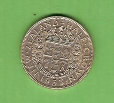 #C33. QUALITY 1933  NEW ZEALAND SILVER HALF CROWN - FIRST YEAR
