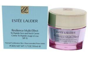 Estee Lauder RESILIENCE Multi-Effect Tri-Peptide Face Neck Creme 1.7 oz N/C Skin