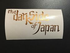 Aufkleber Helm Dark Side of Japan Yamaha Kawasaki Suzuki Honda goldfarben