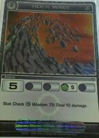1x  Chaotic Card RARE UNUSED CODE rock wave