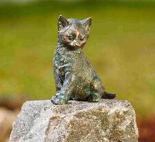 Bronzefigur Junge Katze sitzend H13cm Rottenecker Bronze Kätzchen Dekoration