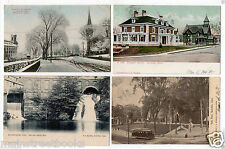 ROCKVILLE CT Postcards Main St. in Winter Ellington Ave Park Place trolley Car