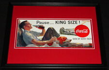 Vintage Coca Cola King Size Framed 11x14 Poster Display Official Repro