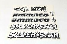 "**OLD SCHOOL BMX ""AMMACO"" SILVER STAR DECAL SET (BLACK)**"