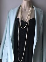 3 X Vintage Necklace Single Strand Faux Pearl