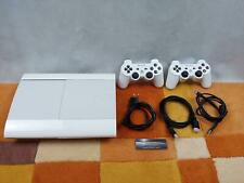 PS3 Playstation 3 Super Slim 12GB Classic White Weiß +Zubehörpaket: 2 Controller