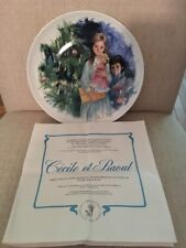 Paul Durand Collector Plate. Cecile Et Raoul