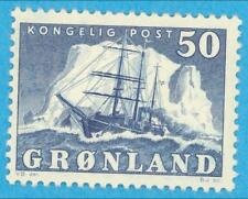 Greenland 35 Mint Hinged Og * Very Small Thin - Extra Fine !