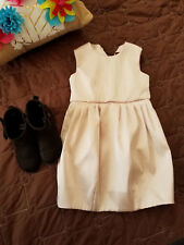 H&M girls sleeveless pleated pouf dress peach size 4-5