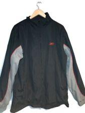 Men's Vintage Reebok Windbreaker Black/Grey/Red Size UK L