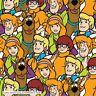Scooby Doo 100% cotton fabric 44 inch/ 110cm Shaggy Velma Fred Dahne Mystery