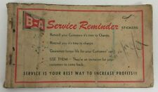 BA British American Oil Service Reminder Stickers Booklet - empty - covers only