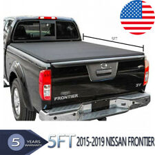 For 2015-2019 Nissan Frontier 5Ft 60in Vinyl Bed Soft Roll Up Tonneau Cover