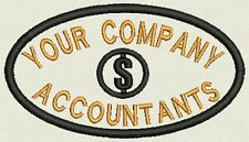 Accountant Patch, Tag, Label for your Uniform - Add your company Name 4.25x2.50""