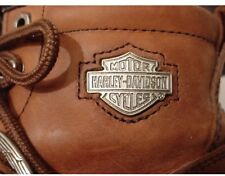 HARLEY DAVIDSON Women's Lace Buckle Leather Boots SIZE 7 1/2 Brown, Motorcycle
