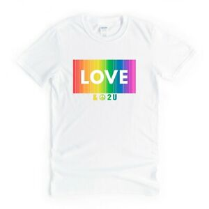 Love And Peace LGBT Cool Tee TShirt Top Gift Idea For Her Women Wife Girlfriend