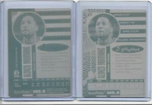 LOT OF 2 ALONZO MOURNING 1997 SCORE BOARD PRINTING PLATE #27 MIAMI HEAT 1 OF 1