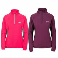 DLX Womens Long Sleeve 1/2 Zip Pullover Gym Top Active Workout Frey