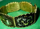 Japanese Shakudo Gold Silver Bracelet Antique Meiji Period ca.1900 Hallmarked