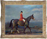 """Hand-painted Old Master-Art Antique Oil Painting hunt horse on canvas 30""""X40"""""""
