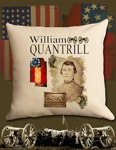 William Quantrill American Civil War Decorative pillow sham covering