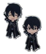 **Legit** Sword Art Online SD Happy & Angry Kirito Authentic Metal Pin Set#50059