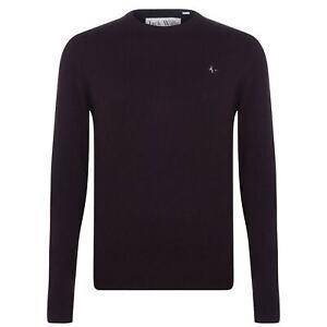 Jack Wills Mens Seabourne Crew Jumper Sweater Pullover Damson All Sizes *REFNCN
