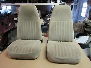 73-91 GMC SUBURBAN CHEVY SILVERADO TRUCK BLAZER TAN BUCKET SEATS