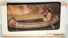 NEW SCHLEICH 42013 CANOE WITH FIGURE DISPLAY WILD WEST NATIVE AMERICAN INDIAN