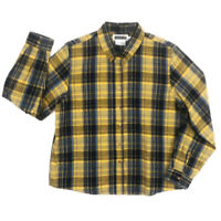 Panhandle Slim Western Shirt Womens L LS Button Up Blue Yellow Plaid Cotton GUC