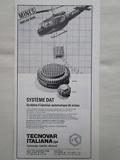 1979-80 PUB TECNOVAR BARI ITALIA MINES MINEN MINAS ORIGINAL FRENCH AD