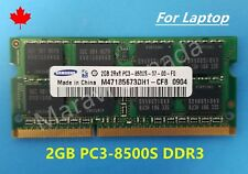 Samsung 2GB 2Rx8 DDR3 PC3-8500S SO-DIMM Laptop RAM Memory M471B5673DH1