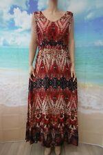 Together Tribal Print Maxi dress V neck,sleeveless,side splits sz UK 18 RRP £69