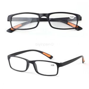 Reading Glasses +1.0 +1.5 to +4.0 Strength Trendy Women Men TR90 Plastic Frame