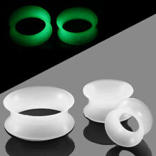 Ear Tunnel Plug Stretcher Taper Piercing- Glow Soft Silicone 1 Pair (2pcs)
