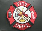 FIRE DEPARTMENT SHIELD EMBROIDERED PATCH 5 INCHES FIRE FIGHTER