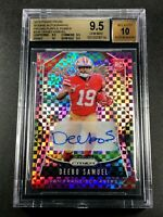 DEEBO SAMUEL 2019 PANINI PRIZM #346 PURPLE POWER AUTO ROOKIE /49 ALL BGS 9.5 10
