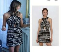 ZARA SOLD OUT  CROSSOVER  SEQUINNED DRESS. SIZE S 7788/301