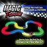 MAGIC TRACKS DIY 220 Glow in the Dark LED LIGHT UP RACE CAR Bend Flex Racetrack