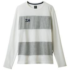 Sale Daiwa DE-8407 T Shirt Long Sleeve White Gray Size XL 229500