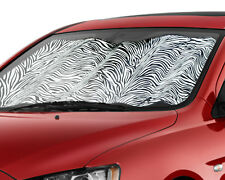White Zebra Auto Sunshade Visor UV Protection Heat Shield