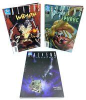 Lot 3 Comics Aliens Wraith / Purge / Labyrinth Occasion Très bon état