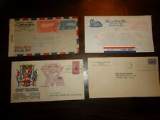 4 Costa Rica Covers - Advertising Censored Latin American Mission Air Mail