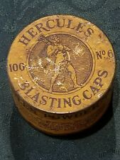 New listing Vintage Hercules No 6 100 Cap Blasting Cap Tin