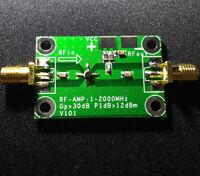 1-2000MHz RF Wideband Amplifier Gain 30dB Low-noise Amplifier LNA Board