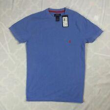 Mens S Polo Ralph Lauren Henley T Shirt Short Sleeve Blue Logo Sleep