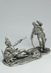 Tin soldier figure General Lassalle and the Hungarian Grenadier 54 mm