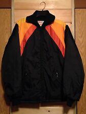 New listing Vintage Bombardier jacket Snowmobile Racing Ski Doo Winter sz M black/orange
