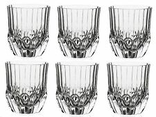 RCR Adagio Set of 6 Crystal Tumblers Whisky Glasses Juice Water tumblers