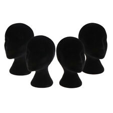 4x Female Foam Mannequin Manikin Head Model Wigs Glasses Display Stand Black
